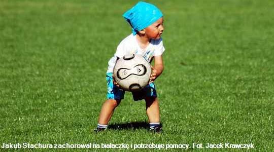 BOBREK.  Piłkarze zagrają dla Kubusia chorego na białaczkę