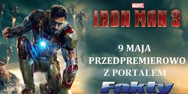KONKURS. Wygraj zaproszenie na przedpremierowy seans filmu IRON MAN 3
