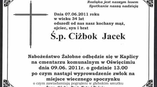 OŚWIĘCIM. Prezesa KS  Soła Oświęcim Jacka Ciżboka pożegnamy w czwartek