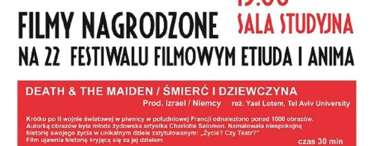 Pokaz filmów nagrodzonych na 22. Festiwalu Etiuda i Anima