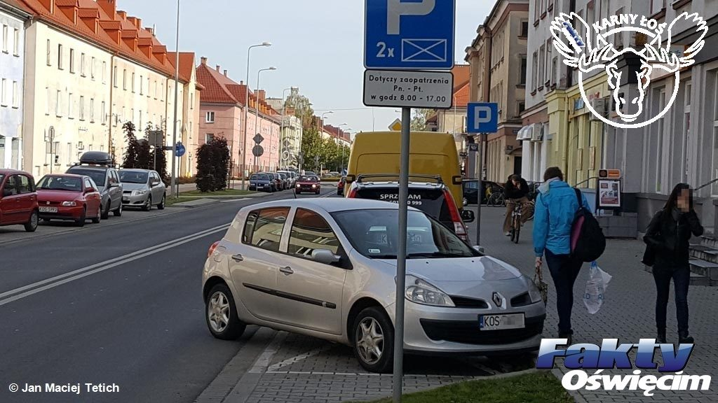 Oświęcim, Karny Łoś, Karne Łosie, parkowanie