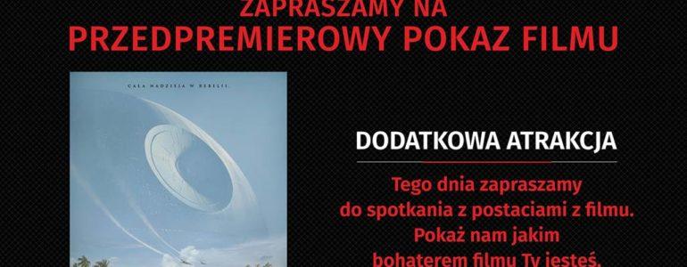 """""""Łotr 1. Gwiezdne wojny- historie"""" – pokaz przedpremierowy"""