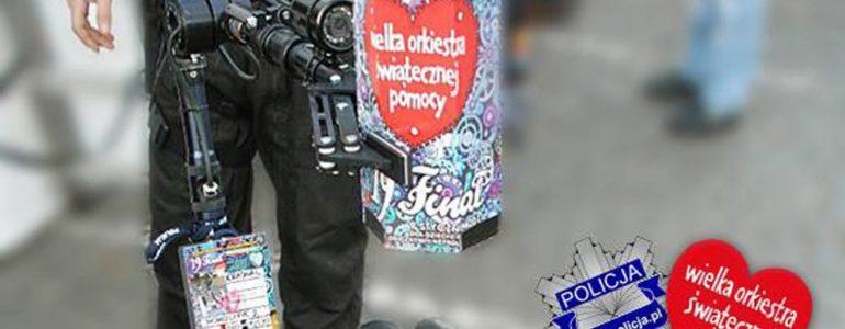 Policjanci dbają o bezpieczeństwo wolontariuszy WOŚP