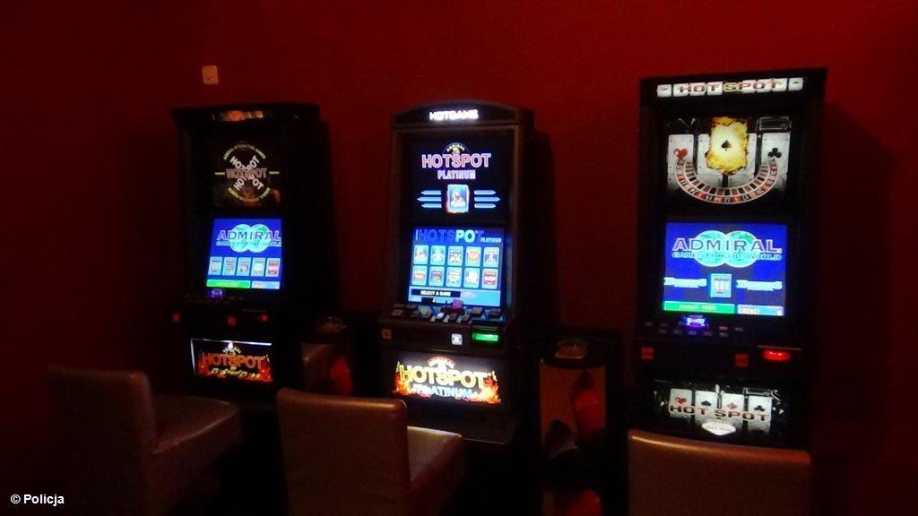 Oświęcim, hazard, maszyny, gry, policja, celnicy