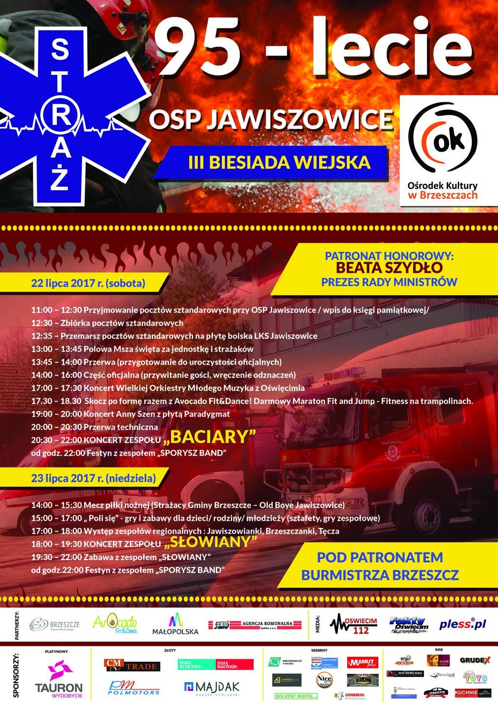 Jawiszowice, OSP, straż, strażacy, jubileusz, 95-lecie, patronat FO