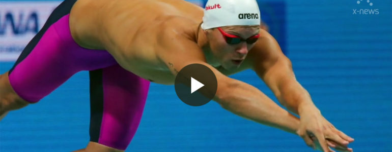 Wojciech Wojdak ze srebrnym medalem pływackich MŚ w Budapeszcie – FILM