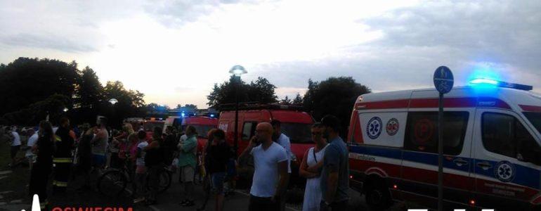 Akcja ratownicza na stawie w Osieku
