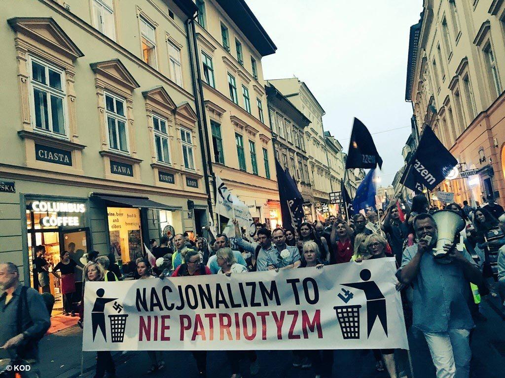 Oświęcim, KOD, marsz, antyfaszystowski, manifestacja