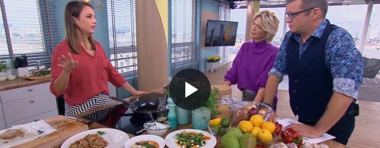 Placki z selera i zupa kokosowa, czyli Gaja Kuroń w kuchni