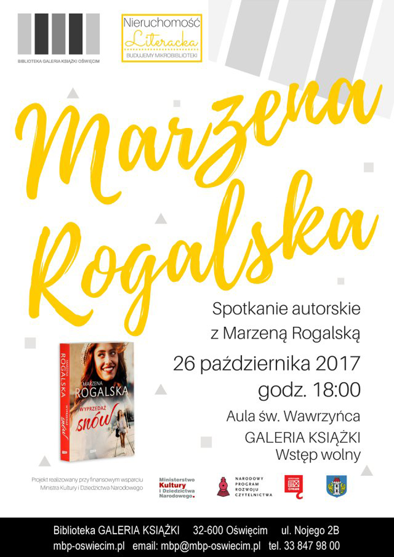 Marzena Rogalska, pochodząca z Chełmka dziennikarka, wystąpi w czwartek 26 października o godzinie 18 w Miejskiej Bibliotece Publicznej Galerii Książki w Oświęcimiu.