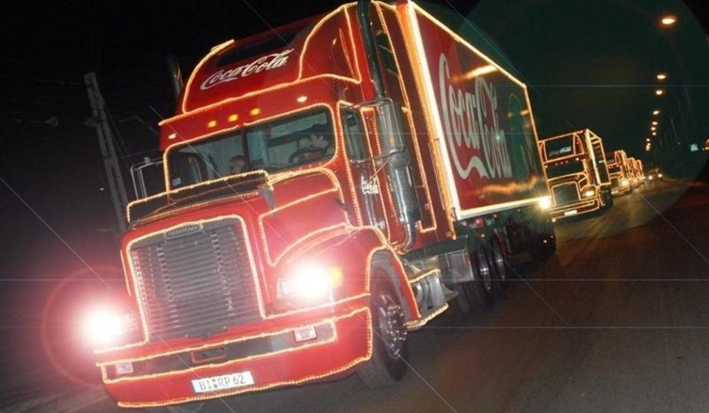 Świąteczna Ciężarówka Coca-Coli