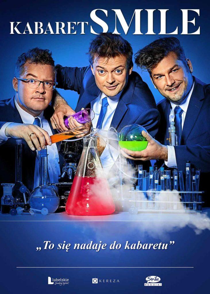 """""""To się nadaje do Kabaretu!"""" to nowy program kabaretu Smile, który wystąpi w Oświęcimskim Centrum Kultury w sobotę 17 marca o godzinie 18."""