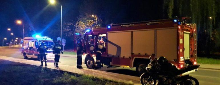 Motocyklista rozbił się podczas wyprzedzania – FOTO