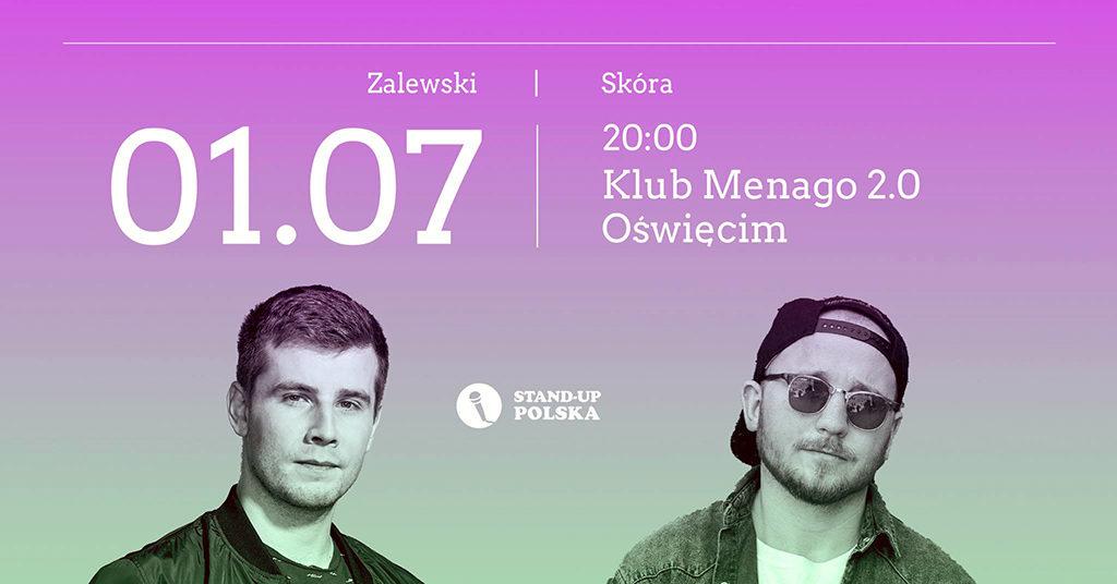 Bartosz Zalewski i Damian Skóra rozpoczną stand-upową scenę w klubie Menago 2.0. W niedzielę 1 lipcaw klubie będzie śmiesznie - przynajmniej tak zapewniają Bartosz i Damian.