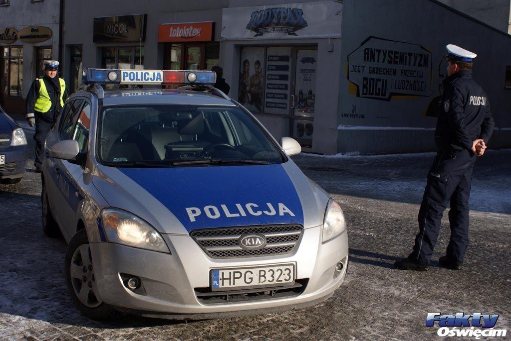 Oświęcim, Brzezinka, policja wykroczenie, przestępstwo