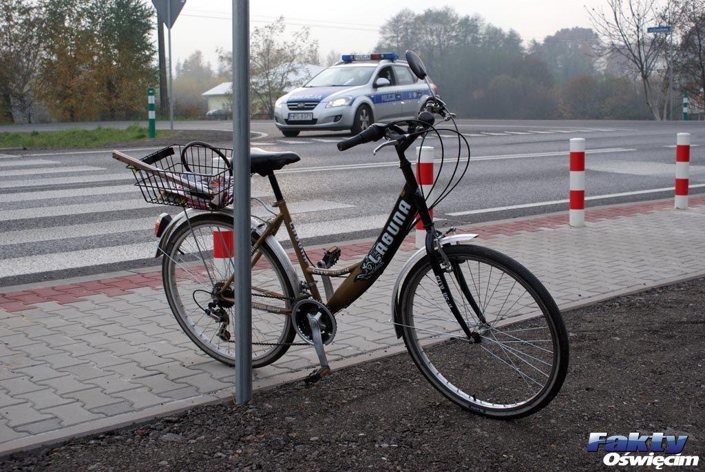 Oświęcim, wypadek, rowerzysta, zdarzenie