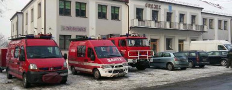 Pożar domu w Grojcu