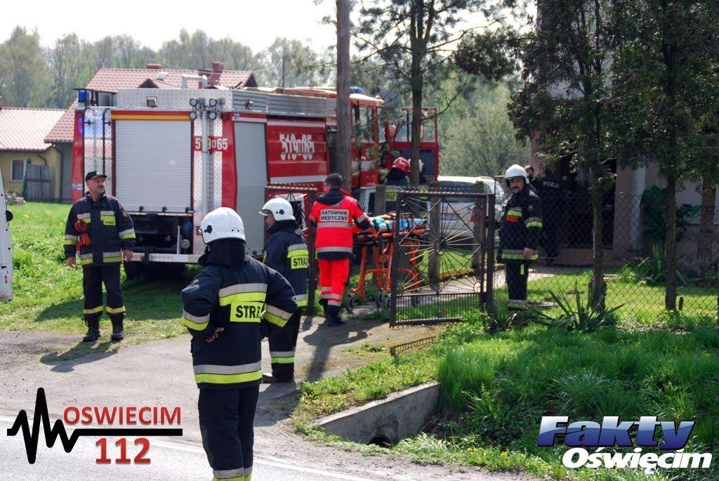 Włosienica, pomoc, straż pożarna, pogotowie ratunkowe, ratowali, strażacy, ratownicy medyczni
