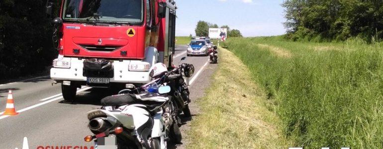 Poślizg motocykli na plamie oleju – FOTO
