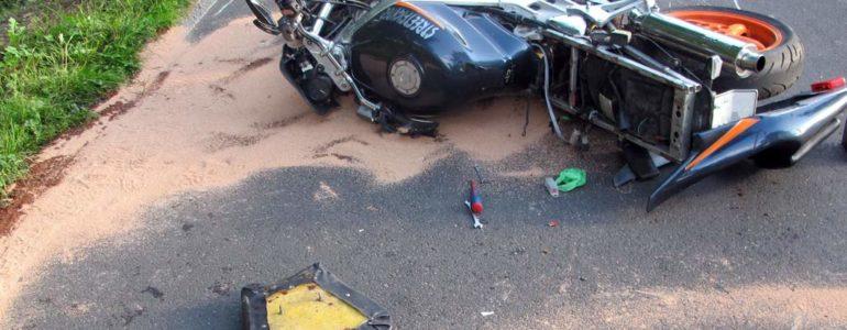 Kolejny wypadek z udziałem motocyklisty – FOTO