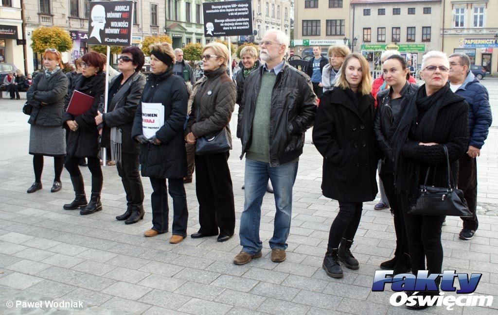 Oświęcim, protest, czarny protest, strajk, strajk kobiet