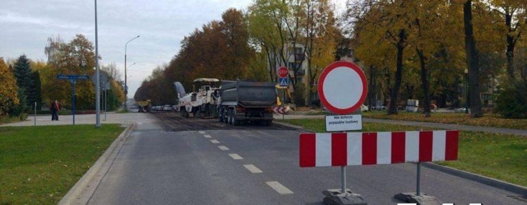 Zamknięte skrzyżowanie ulic Słowackiego i Tysiąclecia