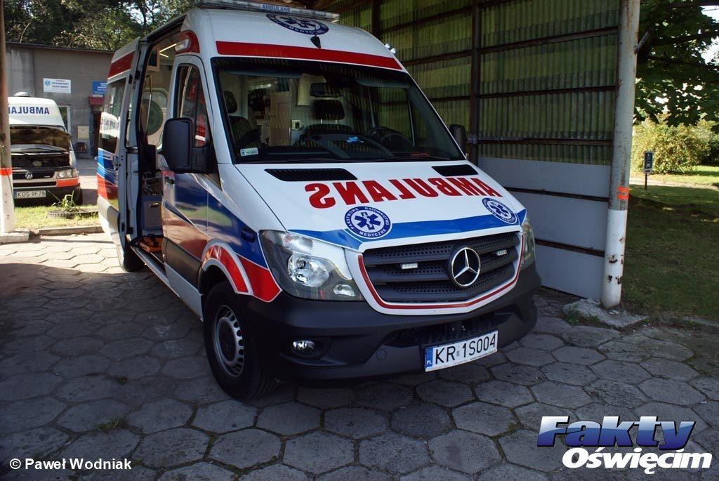 Oświęcim, karetka, pogotowie, ambulans, ratownictwo