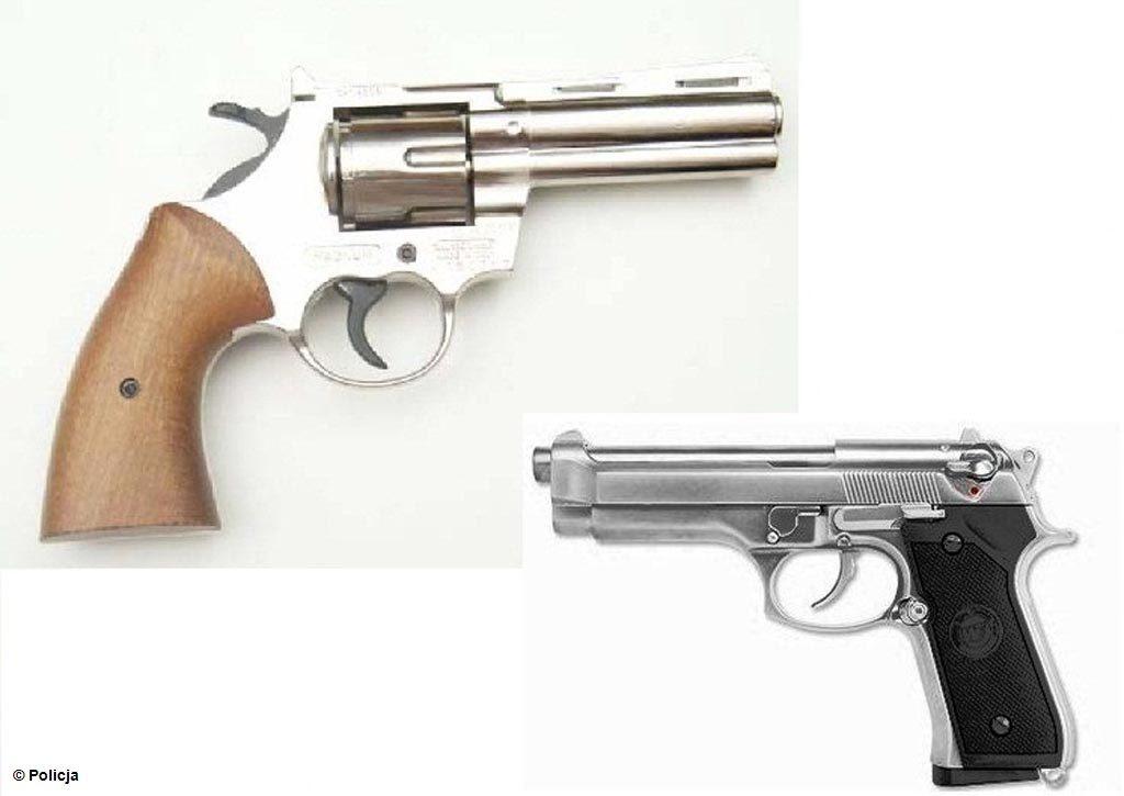 Oświęcim, pistolet, rewolwer, targ, targowisko, amunicja, militaria