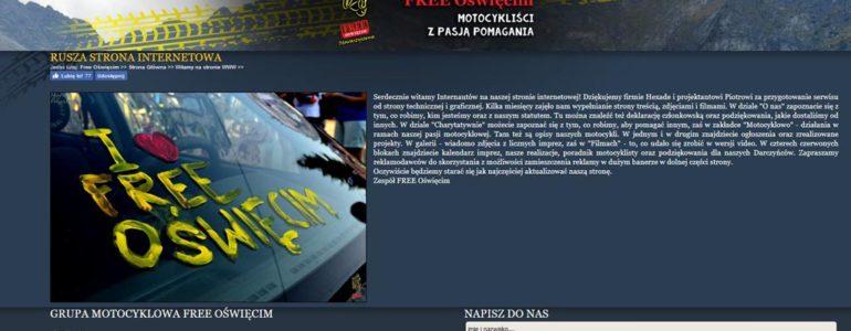 Stowarzyszenie Free Oświęcim ze stroną internetową
