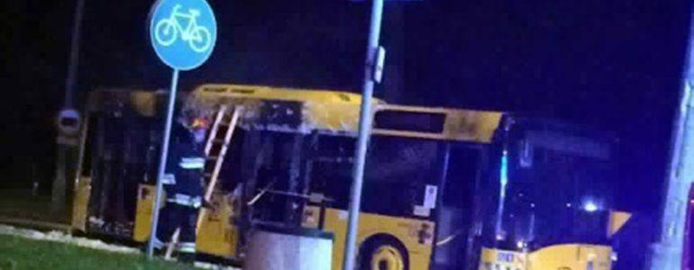 Płonął autobus MZK