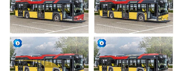 Wybierz kolor miejskiego autobusu