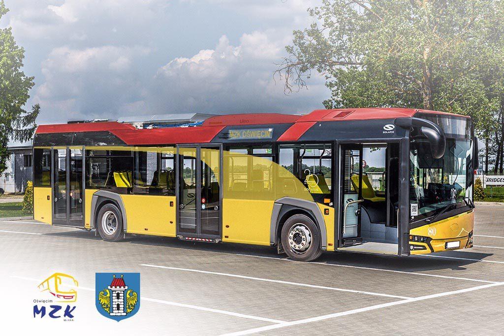 Żółty autobus z tymże kolorem przenikającym szyby i czerwonym dachem wygrał oficjalny plebiscyt na kolorystykę miejskiego taboru w Oświęcimiu.