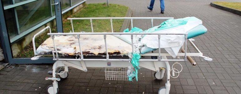 51-latek podpalił łóżko na szpitalnym oddziale ratunkowym – FOTO