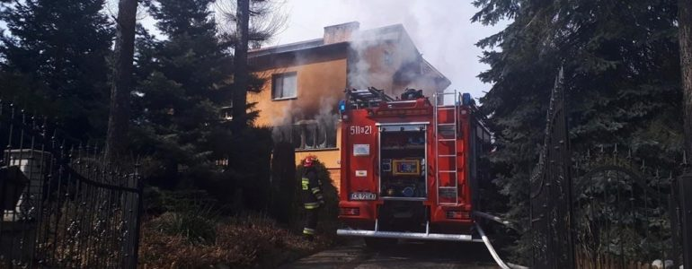 Dom w Lesie podpalił jeden z mieszkańców – AKTUALIZACJA