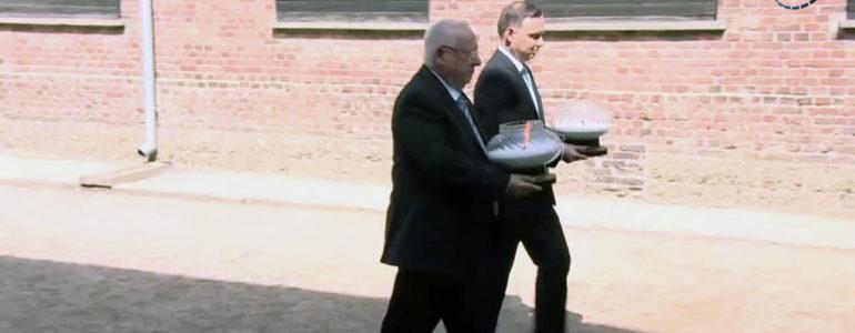 Prezydenci Polski i Izraela oddali hołd pomordowanym w Auschwitz-Birkenau – FILM