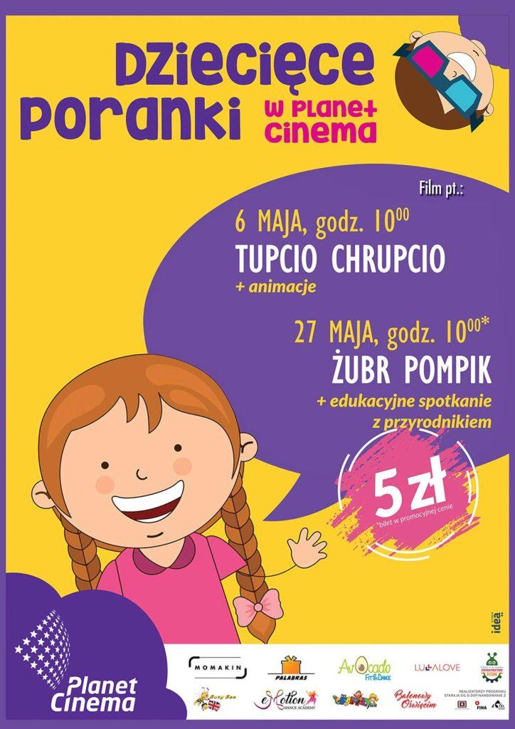 W niedzielę 27 maja o godzinie 10 w kinie Planet Cinema w Oświęcimiu odbędzie się specjalna edycja Poranka dla dzieci.