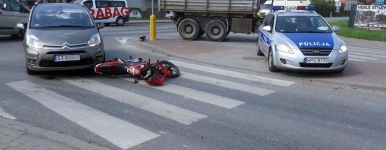 Potrącenie rowerzystki i wypadek motocyklisty – FOTO