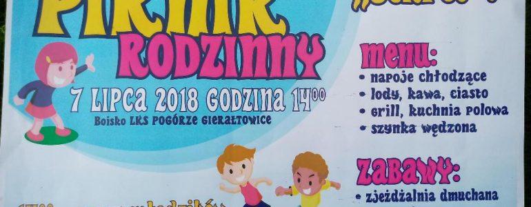 Pogórze Gierałtowice zaprasza na Piknik Rodzinny