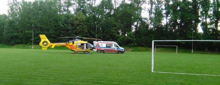 Wypadek na boisku w Brzeszczach
