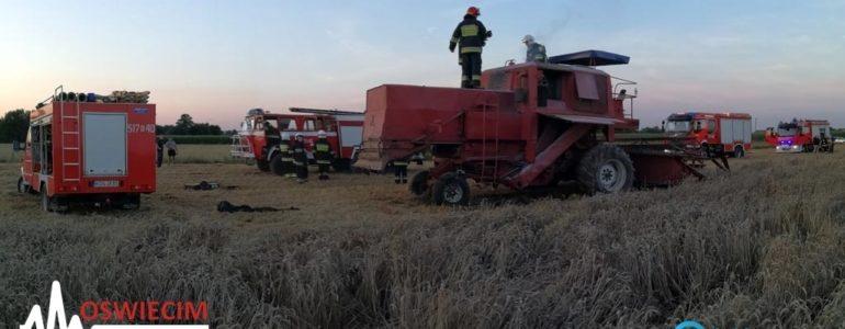 Kombajn rolniczy zapalił się w Podolszu – FILMY