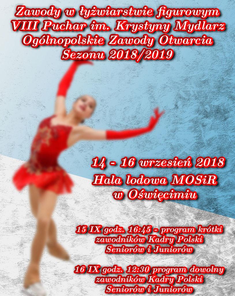 Na oświęcimskiej tafli lodowej w weekend 14-16 września odbędą się ogólnopolskie zawody w łyżwiarstwie figurowym.
