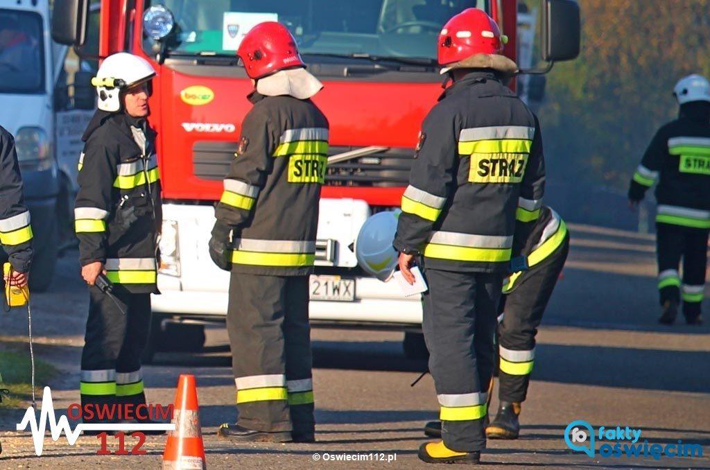 Dzisiaj rano na ulicy Kmieckiej w Porębie Wielkiej koparka uszkodziła gazociąg. Do akcji przystąpiła straż pożarna i pogotowie gazowe.