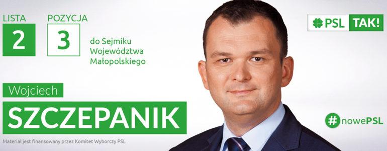 Wojciech Szczepanik – kandydat do Sejmiku Województwa Małopolskiego