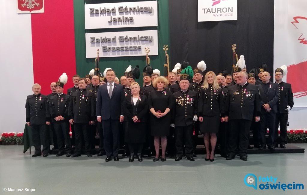 Prosto ze szczytu klimatycznego w Katowicach przyjechał do Brzeszcz prezydent Andrzej Duda, by uczestniczyć w centralnych uroczystościach barbórkowych.
