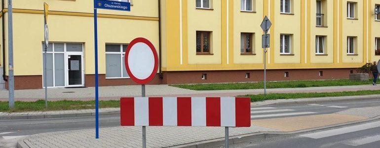 Część ulicy Olszewskiego całkowicie zamknięta
