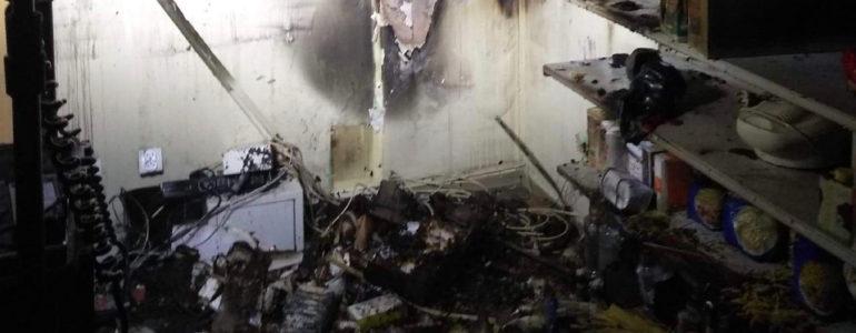 Podpalenie sklepu w Oświęcimiu – FOTO