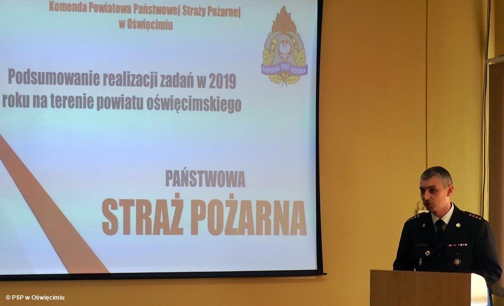 Strażacy z powiatu oświęcimskiego podsumowali prawie 2300 interwencji, do których wyjeżdżali w 2019 roku. Tylko 21 procent wezwań dotyczyła pożarów.