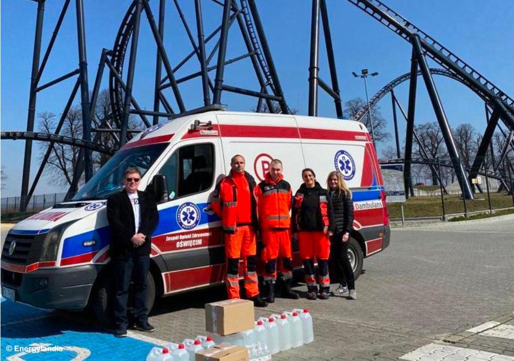 Park Rozrywki Energylandia wyszedł z inicjatywąwsparcia Tych, którzy ratują zdrowie i życie ludzkie, czyli między innymi lokalnych służb medycznych i ratowniczych.