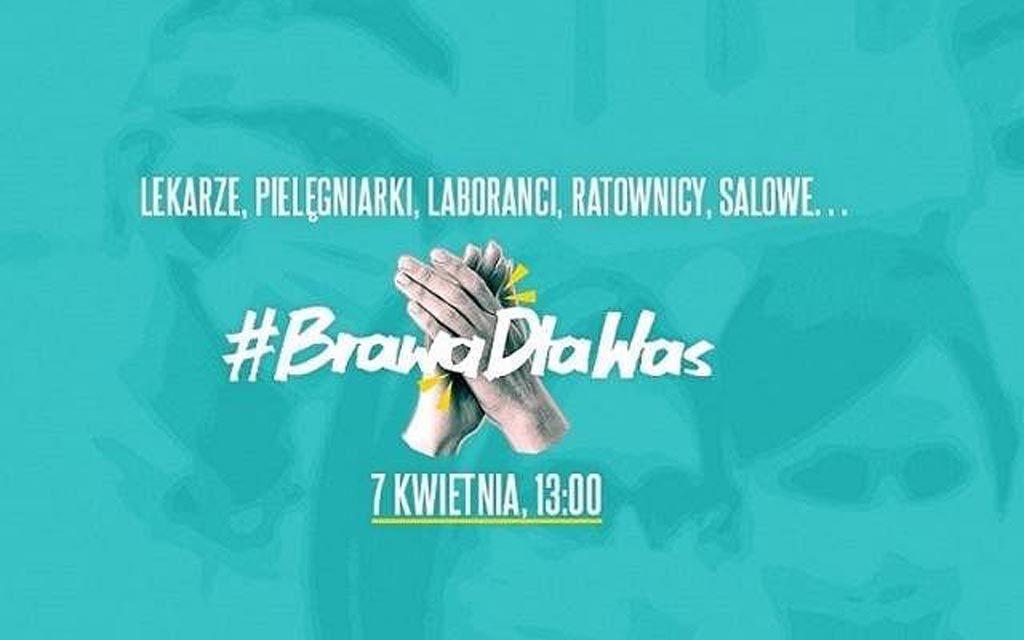Dziś Światowy Dzień Zdrowia. Ogólnopolskie media proponują udział w akcji #BrawaDlaWas, zachęcając do podziękowania pracownikom służby zdrowia.