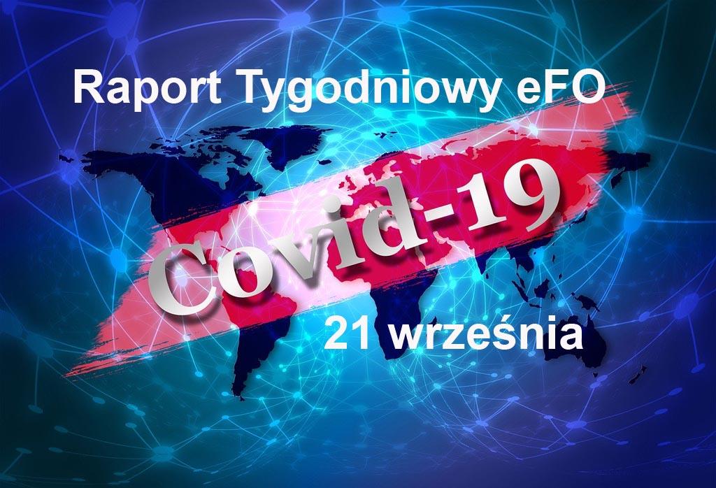 Od ostatniego Raportu Tygodniowego eFO w powiecie oświęcimskim przybyło 17 przypadków zachorowania na COVID-19 i 32 ozdrowieńców.